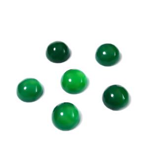 Cabochon agata verde, 8x4mm 1 buc