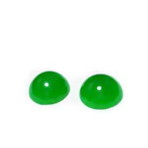 Cabochon agata verde, 12x5.5mm 1 buc