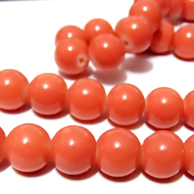 Margele sticla roz-portocaliu, 12mm 1 buc