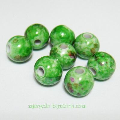Margele plastic verde pastel 8mm 10 buc