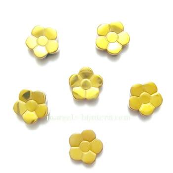 Flori hematite placate auriu, 8x3mm 1 buc