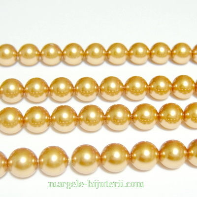 Swarovski Elements, Pearl 5810 Crystal Bright Gold 6mm 1 buc