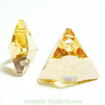 Swarovski Elements, Xilion Triangle 6628-Golden Shadow, 16mm 1 buc