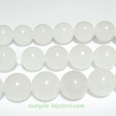 Jad alb, translucid, 10mm 1 buc