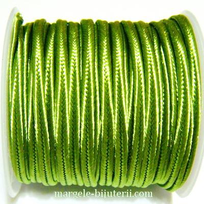 Snur Soutachee verde deschis, latime 2.5mm- rola 4 metri 1 buc