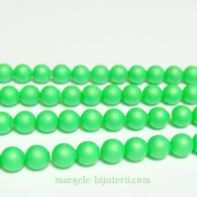 Swarovski Elements, Pearl 5810 Crystal Neon Green 4mm 1 buc