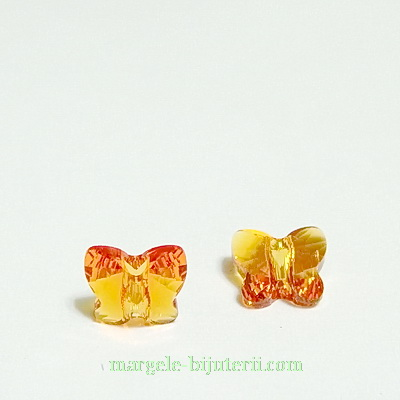 Swarovski Elements, Butterfly 5754-Tangerine, 6 mm 1 buc