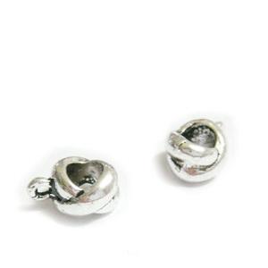 Agatatoare pandantiv, X, argintiu antichizat, 12x8x6mm, orificiu 5mm 1 buc
