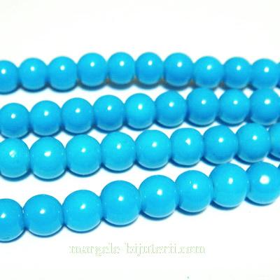 Margele sticla albastre 6mm 10 buc