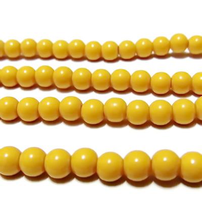 Margele sticla galbene 6mm 10 buc