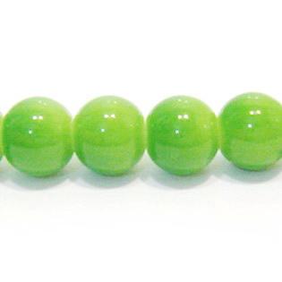 Margele sticla rotunde verzi 12mm 1 buc