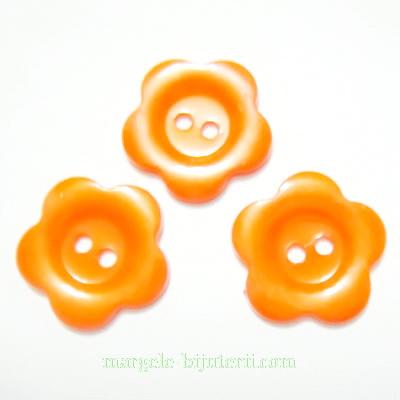 Nasturi plastic portocaliu inchis, floare 22x2mm 1 buc