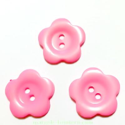 Nasturi plastic roz, floare 22x2mm 1 buc