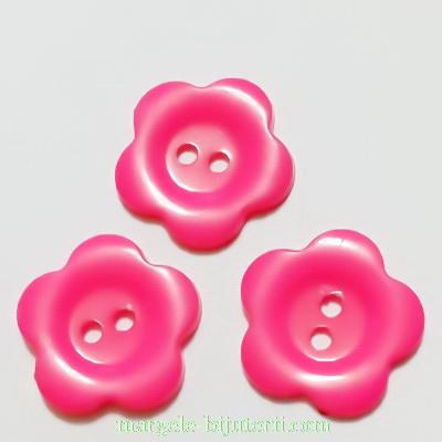 Nasturi plastic fucsia, floare 22x2mm 1 buc