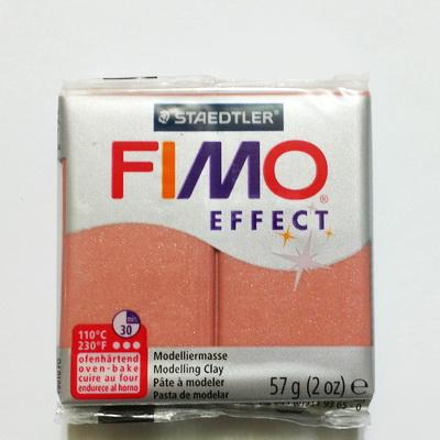 Plastelina fimo effect 56g cod cul 207-roz gold pearl 1 buc