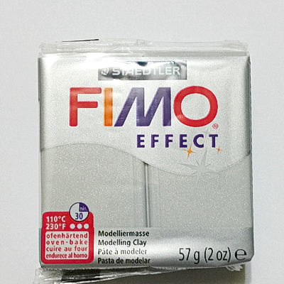 Plastelina fimo effect 56g cod cul 817-silver pearl 1 buc