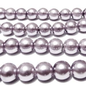 Perle sticla mov 10mm 10 buc