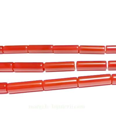 Carneol, tub 14x4mm 1 buc
