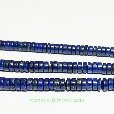 Lapis Lazuli, rondel, 5x2mm 1 buc