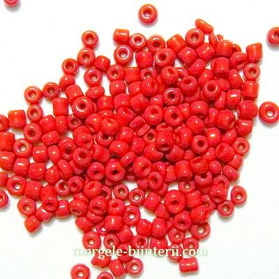 Margele nisip, rosu-grena, opace, 2mm 20 g
