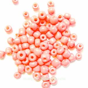 Margele nisip, roz-somon, opace, 4mm 20 g
