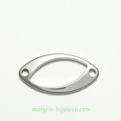 Link otel inoxidabil, oval, 21x11mm 1 buc