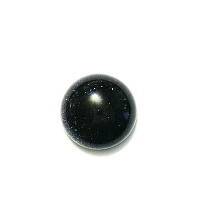 Cabochon piatra soarelui bleu, 12x5.5mm 1 buc