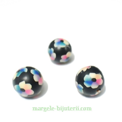 Margele fimo, multicolore, 9~10 mm 1 buc