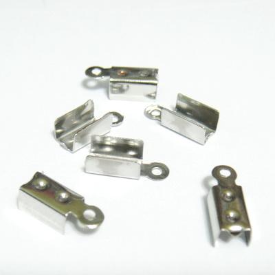 Capat prindere snur, argintiu inchis, 12x4.5mm, interior 3.5mm 10 buc