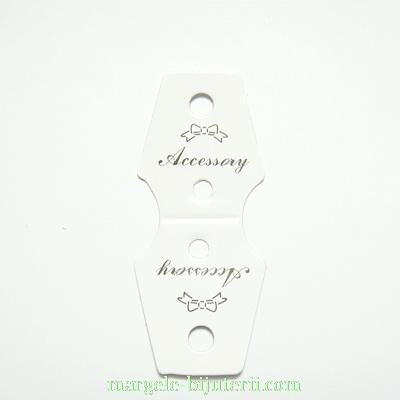 Etichete carton, albe, lucioase, 62x25x0.5mm 10 buc