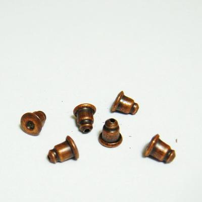 Surub cercei, cilindric, culoare cupru, 6x4mm 10 buc