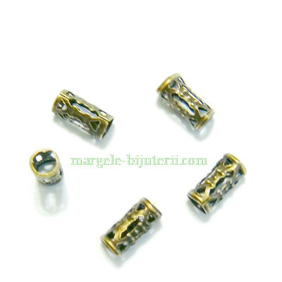 Distantier bronz, tubular, 8.5x4mm 1 buc