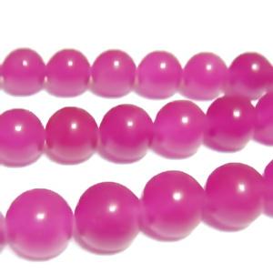Jad translucid, fucsia-violet, 10mm 1 buc