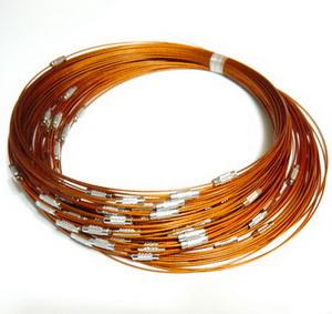 Baza colier, sarma siliconata, aramii, cu inchizatoare 1 buc
