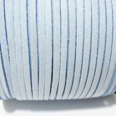 Snur faux suede, albastru deschis, grosime 3x1.5mm 1 m
