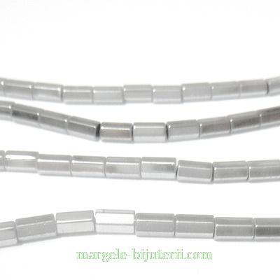 Hematite nemagnetice, argintii, placate, multifete, 5x3mm 1 buc
