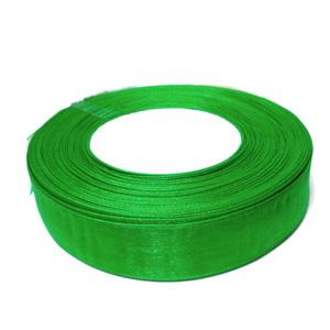 Panglica organza verde, 2 cm-rola 50m 1 buc