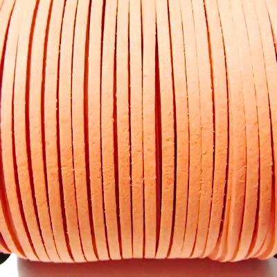 Snur faux suede, roz-somom, grosime 3x1.5mm 1 m