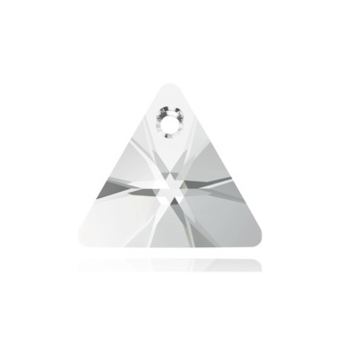 Swarovski Elements, Xilion Triangle Pendant 6628-Crystal, 16mm 1 buc