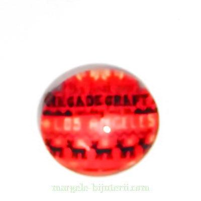Cabochon sticla ,,Craciun'', 14x4.5mm, model 22 1 buc