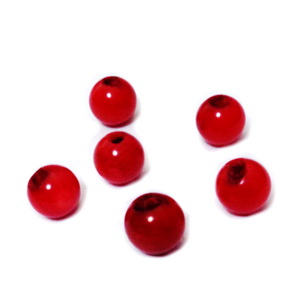 Coral rosu 8.8mm (mici defecte la orificiu) 1 buc