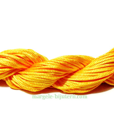Snur matasos pt. bratari shamballa, portocaliu, grosime 1mm-scul 26 m 1 buc