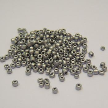 Margele nisip,  mate, argintii, 2mm 20 g