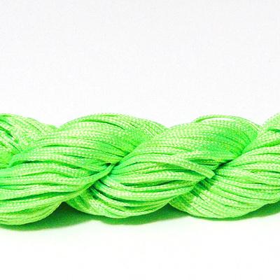 Snur matasos pt. bratari shamballa, verde-lime, grosime 1mm-scul 26m 1 buc