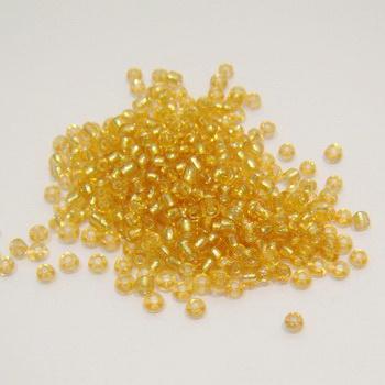 Margele nisip sticla aurii cu miez argintiu 3mm 20 g
