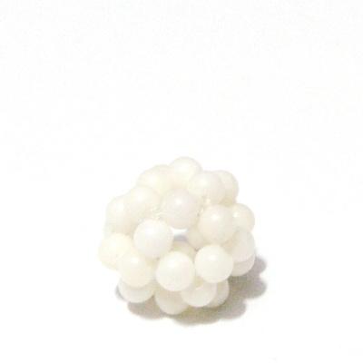 Bulgaras coral alb 3.5mm, 12mm 1 buc