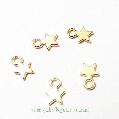 Pandantiv auriu, stea 10x8x2mm 1 buc