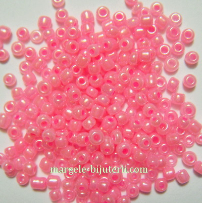 Margele nisip, roz sidefate, 3mm 20 g