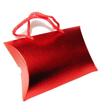 Plasa cadou, carton rosu, 17x12x4cm 1 buc