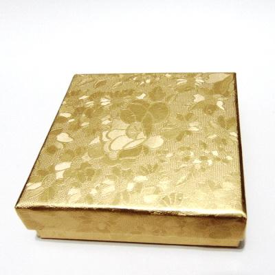 Cutie carton, aurie, 8.5x8.5x2.5cm 1 buc